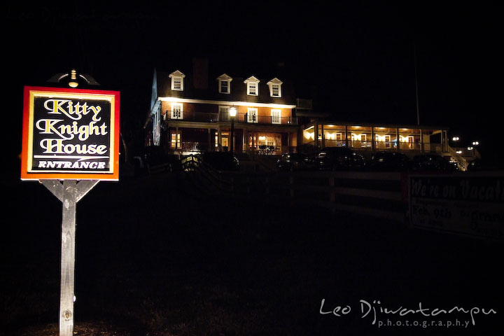 The wedding venue at night. Kitty Knight House Georgetown Chestertown MD Wedding Photographer