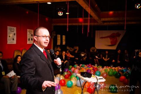pastor Dustin with balloons background