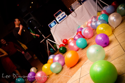 balloons on dance floor