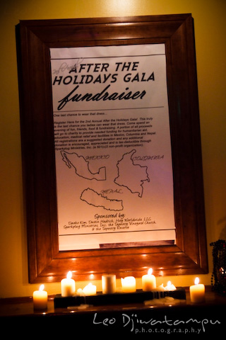 event poster lighted with candles
