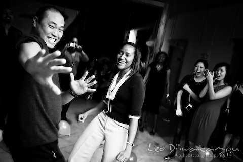 guy and girl dancing laughing at gala event party