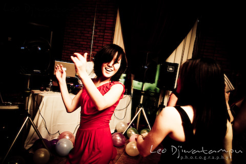 girl dancing clapping hand at gala event party