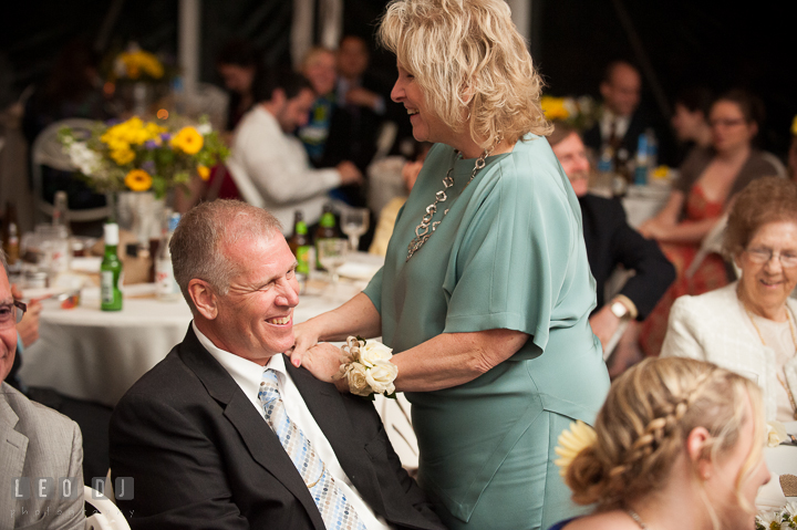 Mother of Groom delivered few words during toast. Kent Island Maryland Matapeake Beach wedding reception party and romantic session photo, by wedding photographers of Leo Dj Photography. http://leodjphoto.com