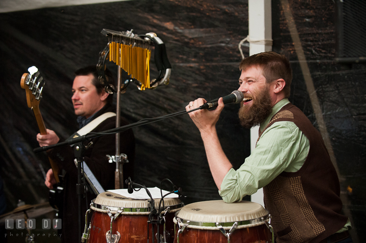 Music peformed by the Dirty City Band. Kent Island Maryland Matapeake Beach wedding reception party and romantic session photo, by wedding photographers of Leo Dj Photography. http://leodjphoto.com