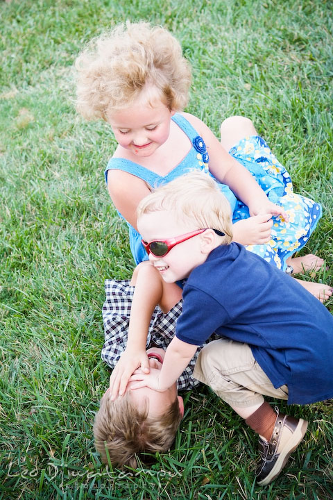 Children playing pile up. Cove Creek Country Club, Stevensville, Kent Island, Eastern Shore, Maryland Wedding Photographer, beach wedding photographer
