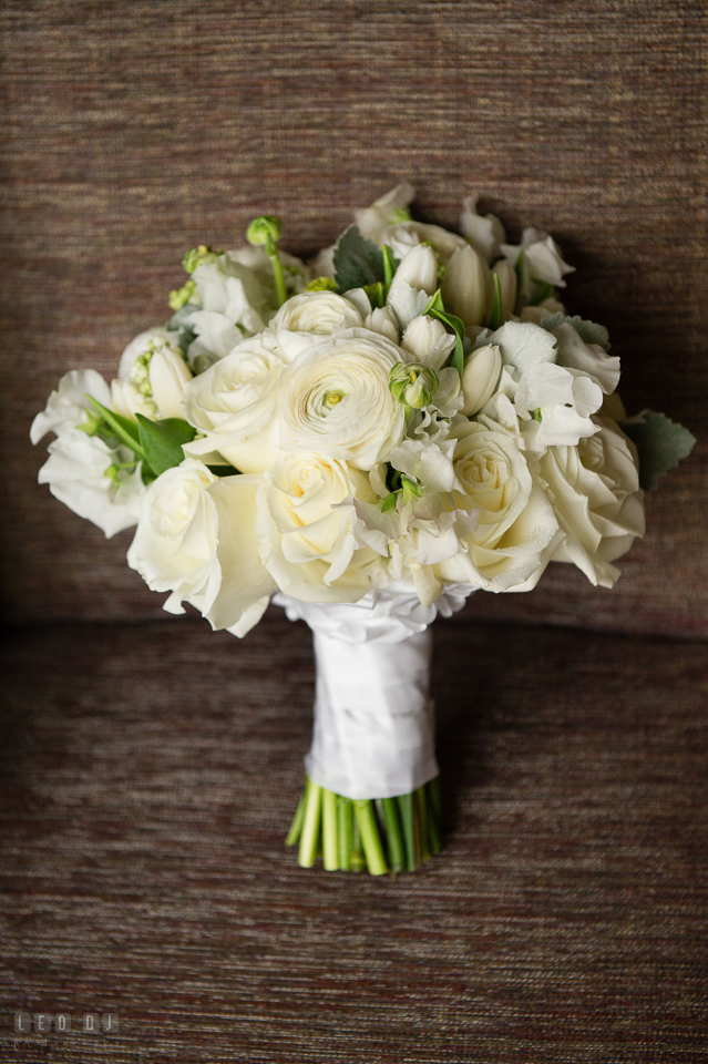 Westin Annapolis Hotel Bride's rose bouquet designed by Florist Blue Vanda Designs photo by Leo Dj Photography