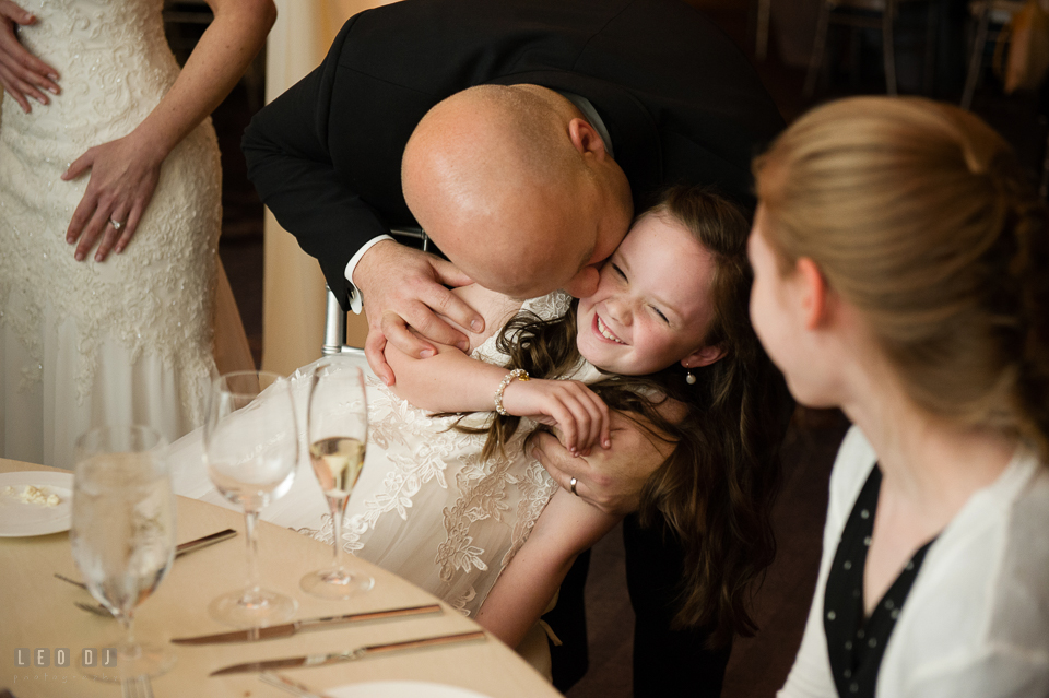 Westin Annapolis Hotel groom kissing daughter photo by Leo Dj Photography