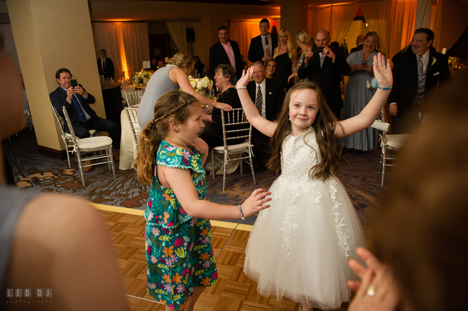 Westin Annapolis Hotel little girl dancing with friend photo by Leo Dj Photography