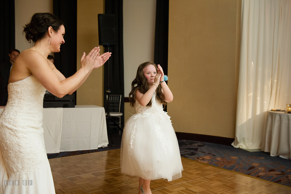 Westin Annapolis Hotel bride and daughter dancing photo by Leo Dj Photography