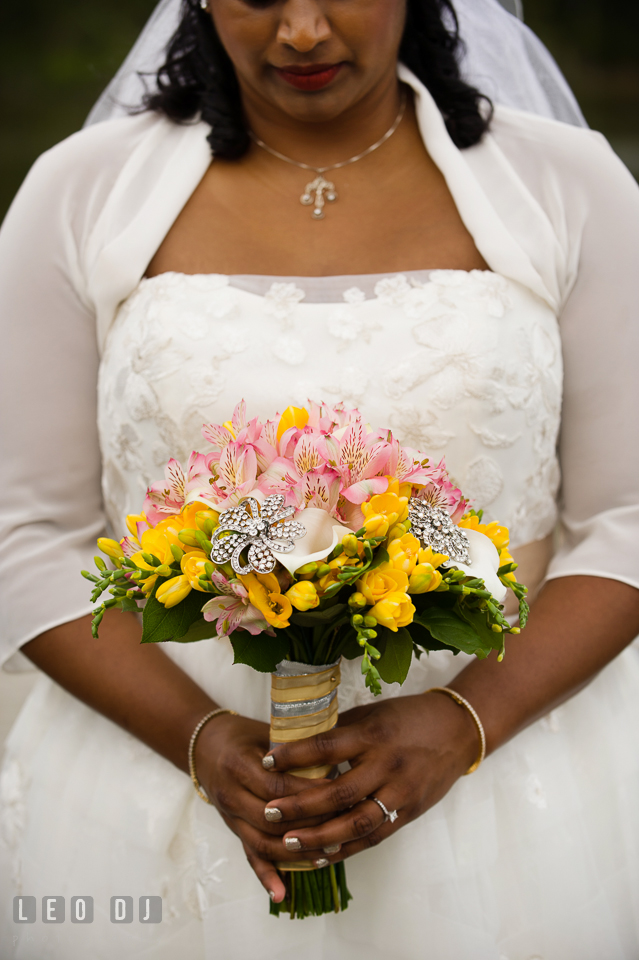 Beautiful flower bouquet designed by the florist Seasonal Flowers. Aspen Wye River Conference Centers wedding at Queenstown Maryland, by wedding photographers of Leo Dj Photography. http://leodjphoto.com