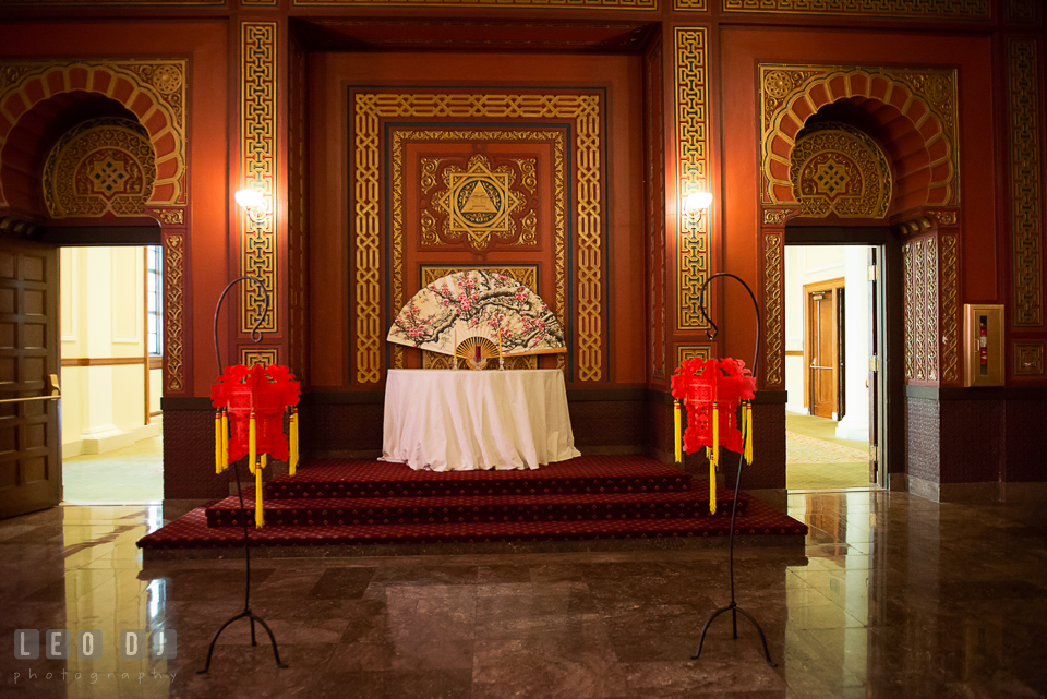 Front view of the Oriental Room details. Tremont Grand Historic Venue wedding, Baltimore, Maryland, by wedding photographers of Leo Dj Photography. http://leodjphoto.com