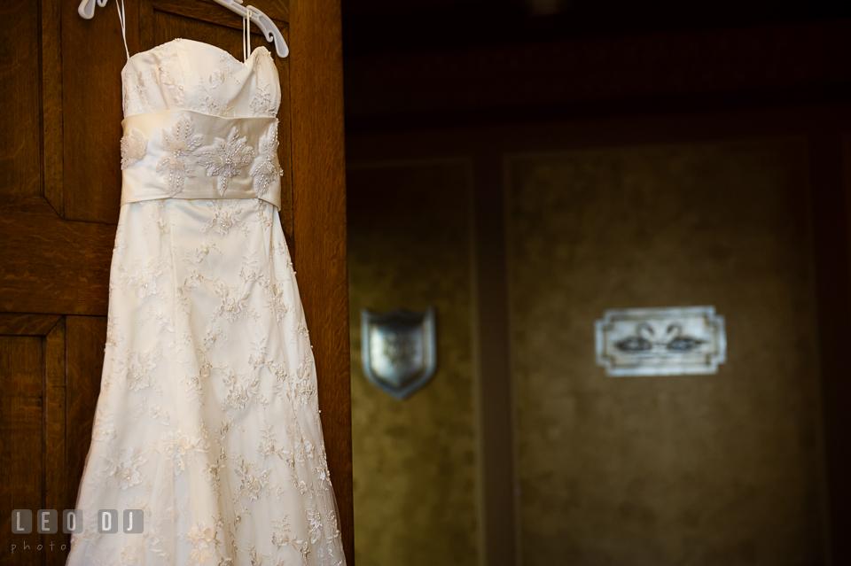 Close up shot of Bride's wedding dress. Tremont Grand Historic Venue wedding, Baltimore, Maryland, by wedding photographers of Leo Dj Photography. http://leodjphoto.com
