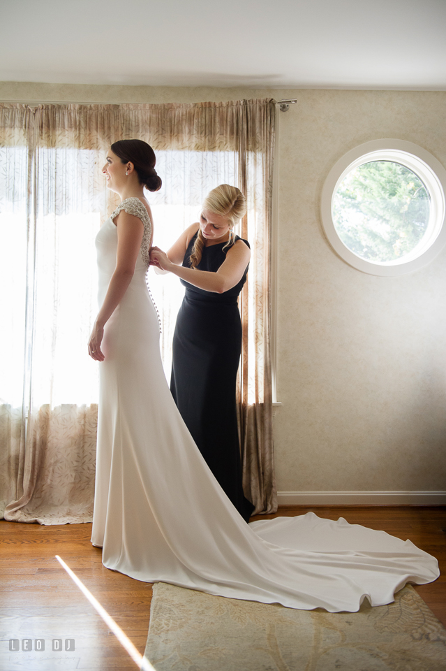 Annes Elegant Wedding Gown Was Designed By Pronovias From Love Couture Bridal
