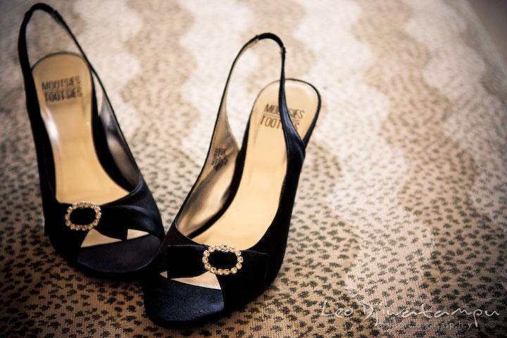 bride's shoes. Clifton Inn Charlottesville VA Destination Wedding  Photographer