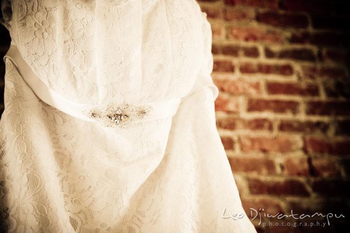 bride's wedding dress. Clifton Inn Charlottesville VA Destination Wedding Photographer