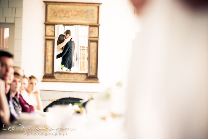 bride and groom having the first dance as a husband and wife. Clifton Inn Charlottesville VA Destination Wedding Photographer