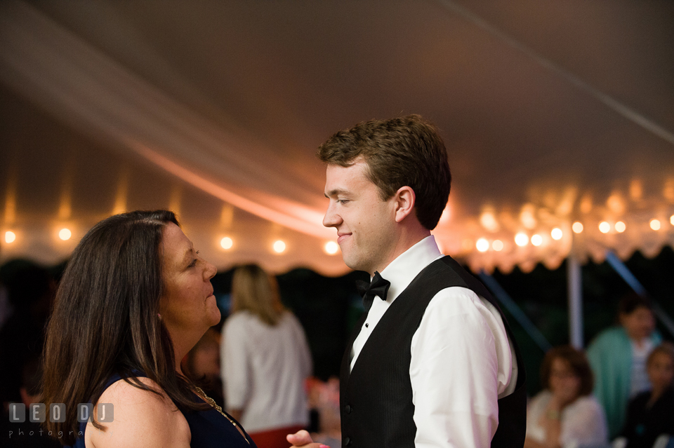 The Groom and his mother during parent dance. Aspen Wye River Conference Centers wedding at Queenstown Maryland, by wedding photographers of Leo Dj Photography. http://leodjphoto.com