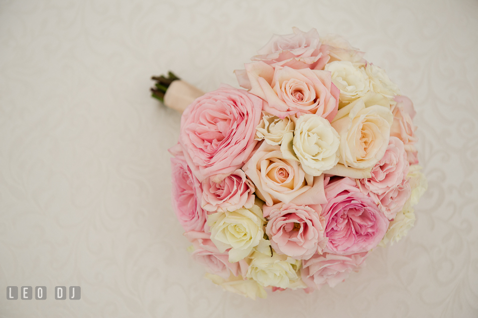 Eastern Shore Maryland Wedding Bride's flower bouquet from Intrigue Design and Decor photo by Leo Dj Photography