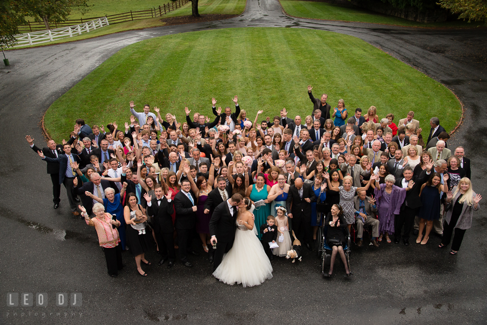 Aspen Wye River Conference Centers all wedding guests group photo by Leo Dj Photography