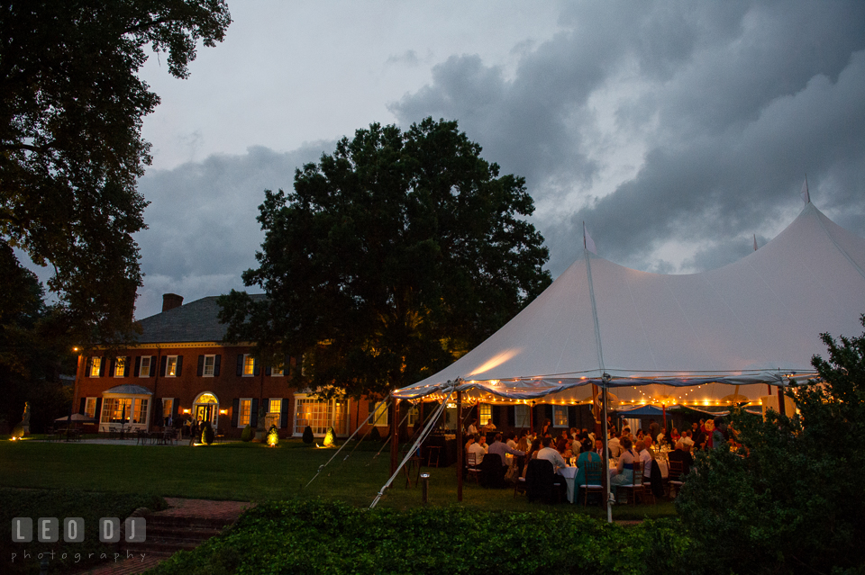 Aspen Wye River Conference Centers reception tent in the back of Houghton House photo by Leo Dj Photography