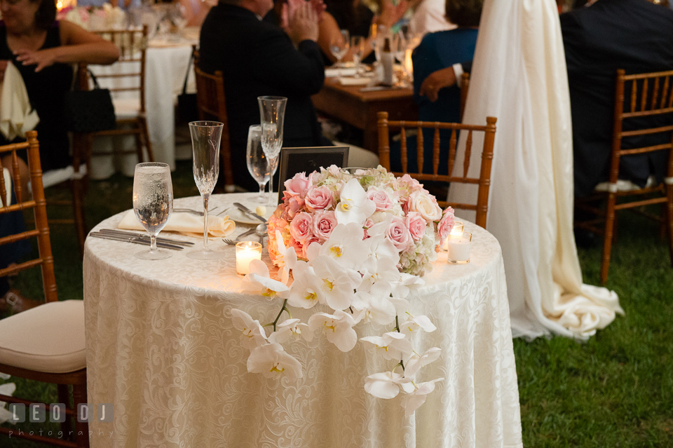 Aspen wye river conference centers wedding queenstown maryland and orchid arrangements for the sweetheart table and the floral chandelier were all created by the talented florist team of intrigue design and decor junglespirit Choice Image