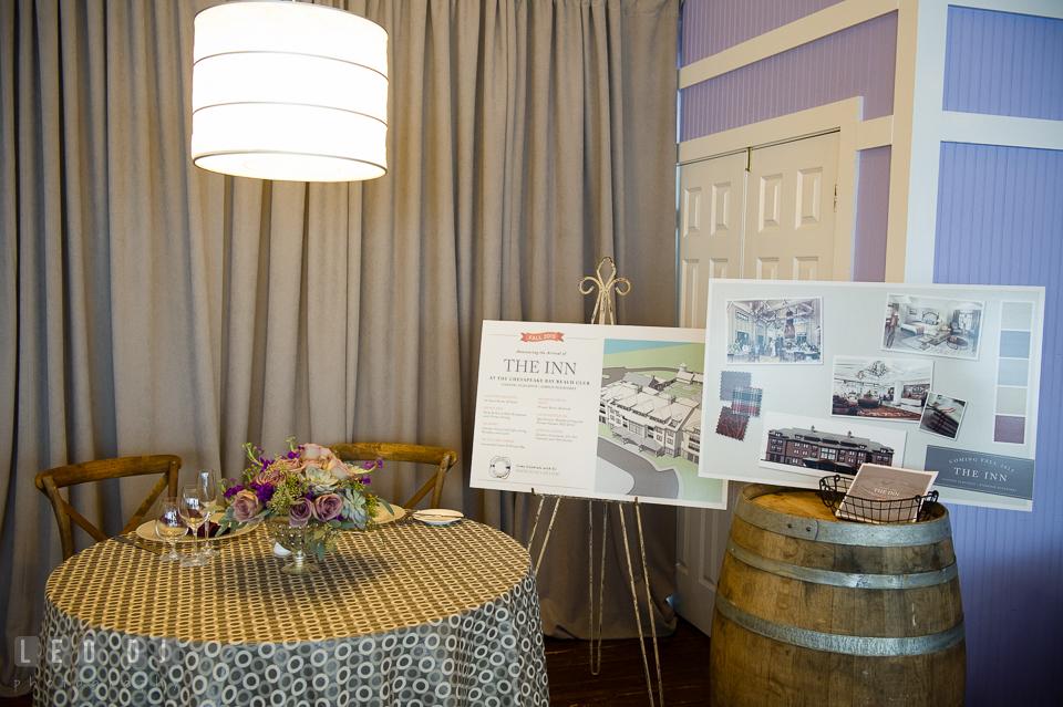 The Inn at Chesapeake Bay Beach Club display. Kent Island Maryland Chesapeake Bay Beach Club Bow Ties and Bubbly wedding show photos at the Tavern Bayside, by wedding photographers of Leo Dj Photography. http://leodjphoto.com
