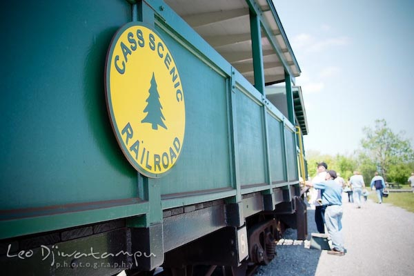 train car at bald knob overlook, by mountain summit