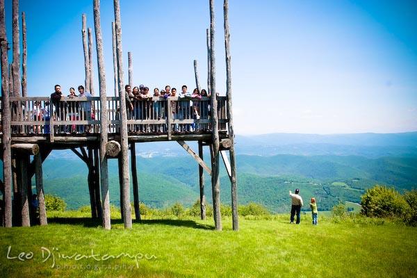 bald knob overlook platform, west virginia, looking at mountains on virginia border