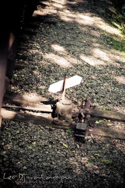railroad train track switch