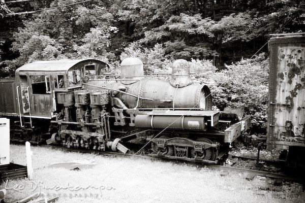 old locomotive train engine, cass scenic railroad trip, west virginia
