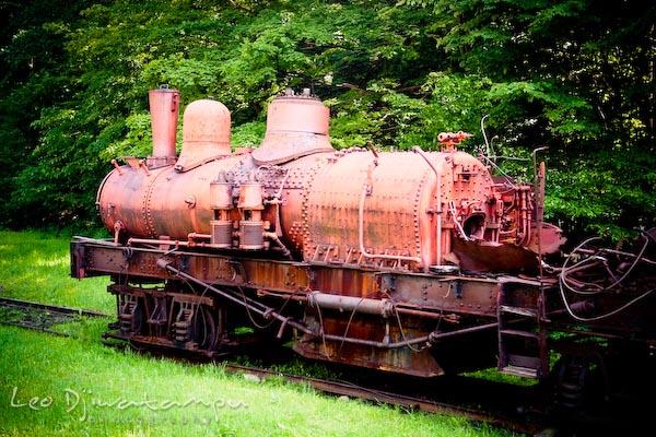 vintage locomotive train engine, cass scenic railroad trip, west virginia