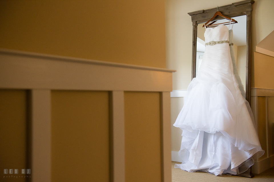 Chesapeake Bay Beach Club wedding gown by Casablanca from Russell's Formal, Parksley VA photo by Leo Dj Photography