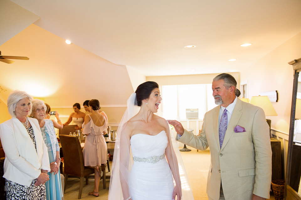Chesapeake Bay Beach Club Father of the Bride first look with daughter photo by Leo Dj Photography
