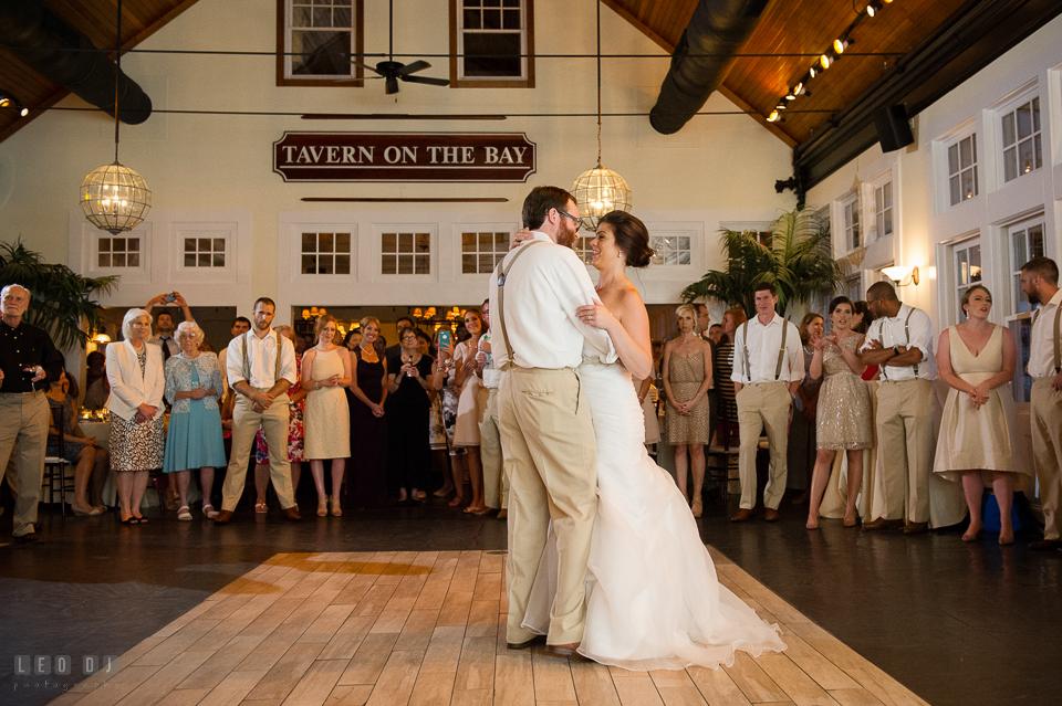 Chesapeake Bay Beach Club Bride and Groom's first dance photo by Leo Dj Photography