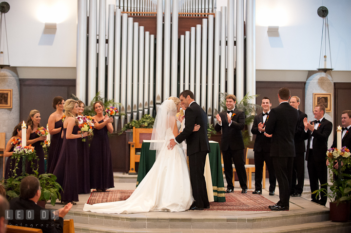 Sacred Heart Church Wedding Ceremony: Chelsea + Michael