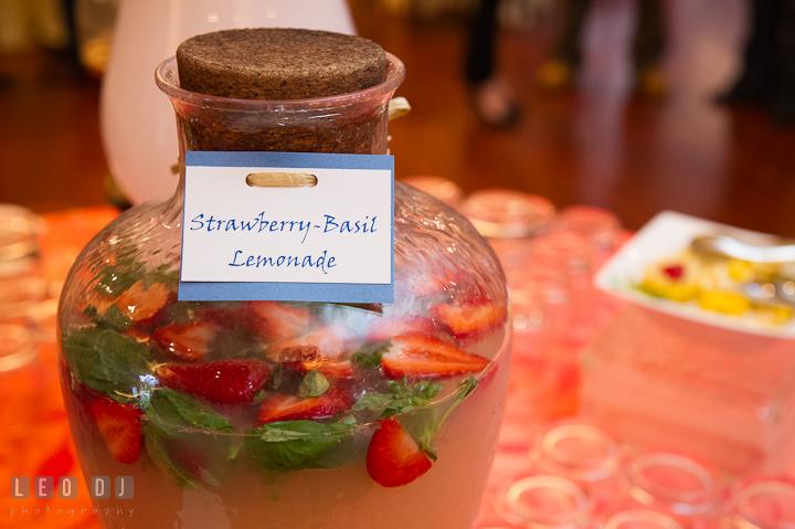 Strawberry basil lemonade drink. Chesapeake Bay Beach Club wedding bridal testing photos by photographers of Leo Dj Photography. http://leodjphoto.com