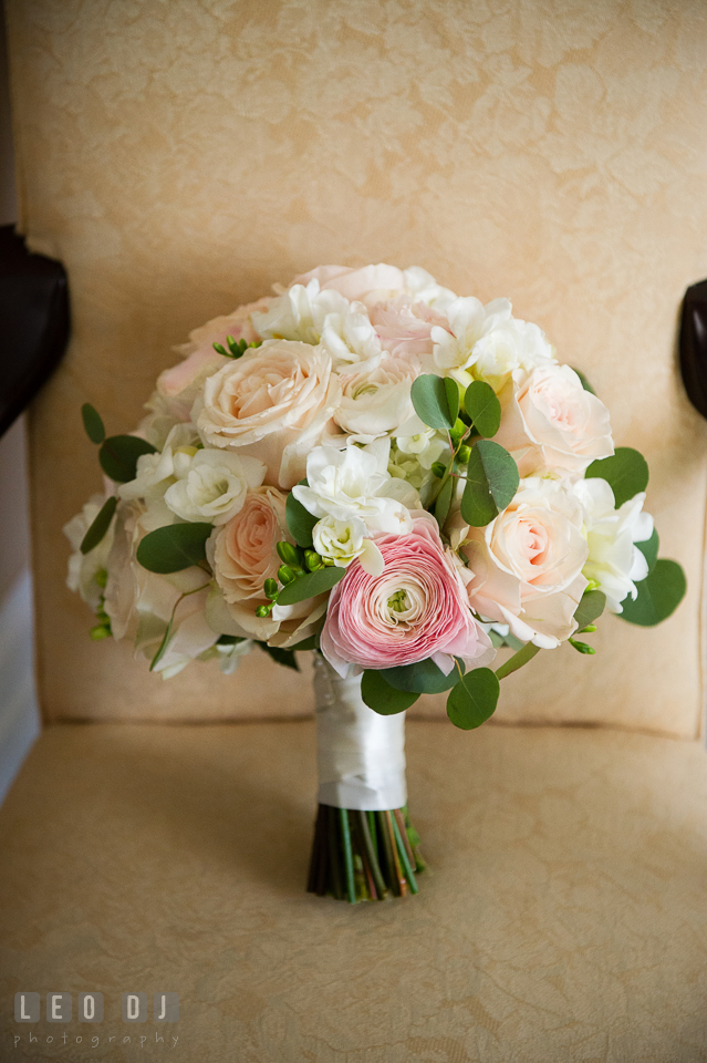 Kent Manor Inn beautiful bridal rose bouquet designed by Cache Fleur photo by Leo Dj Photography