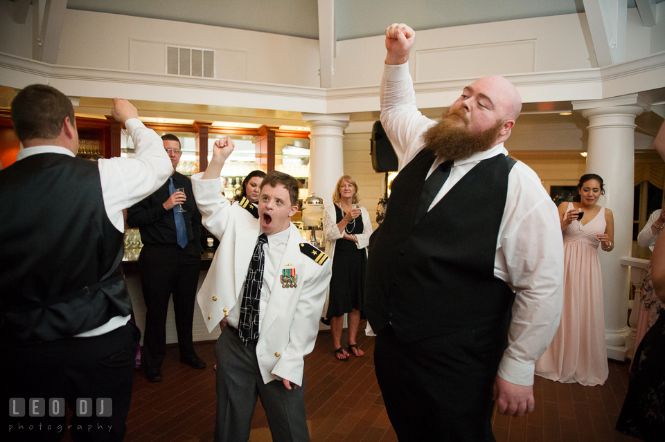 Eastern Shore Maryland guests dance and sing along to music by DJ from Crow Entertainment photo by Leo Dj Photography