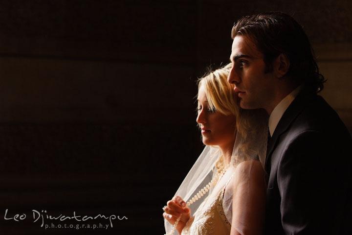 Bride and groom cuddling together. Wedding bridal portrait photo workshop with Cliff Mautner. Images by Leo Dj Photography