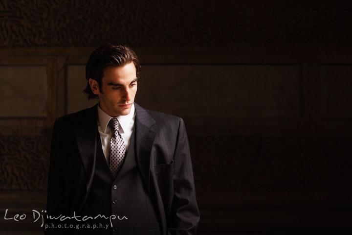 Groom posing. Wedding bridal portrait photo workshop with Cliff Mautner. Images by Leo Dj Photography