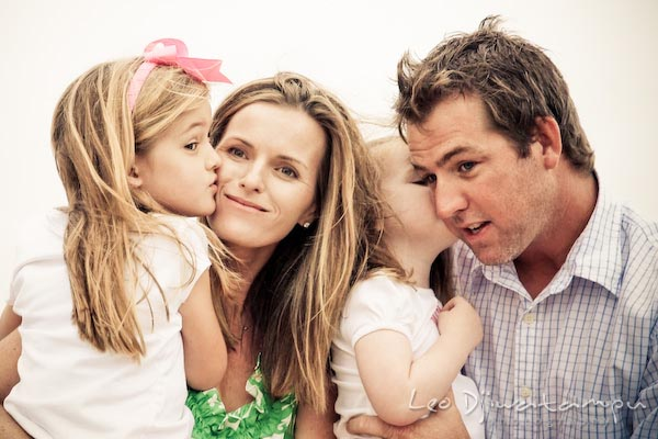 family kiss. Children family reunion birthday photography Tilghman Island Annapolis Kent Island Eastern Shore MD