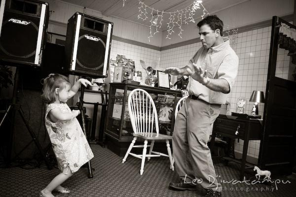 father and girl dancing. Children family reunion birthday photography Tilghman Island Annapolis Kent Island Eastern Shore MD