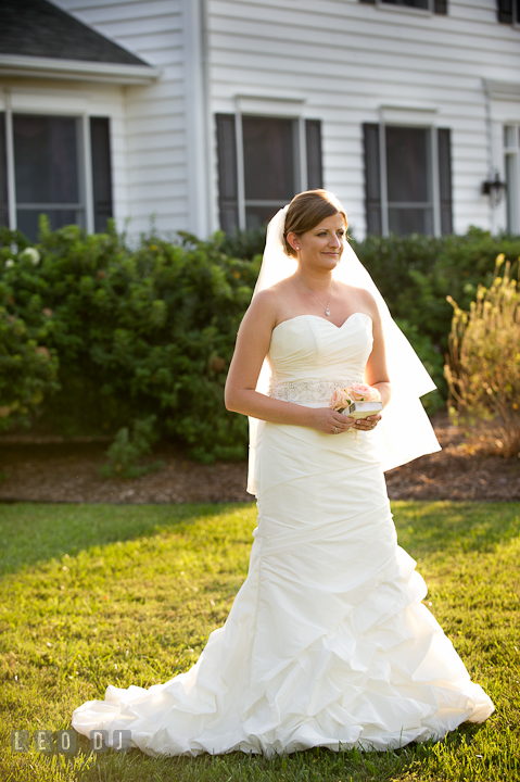 Bride posing. Reception party wedding photos at private estate at Preston, Easton, Eastern Shore, Maryland by photographers of Leo Dj Photography. http://leodjphoto.com