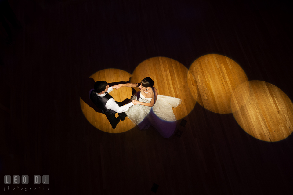 Bride and Groom's first dance. Aspen Wye River Conference Centers wedding at Queenstown Maryland, by wedding photographers of Leo Dj Photography. http://leodjphoto.com