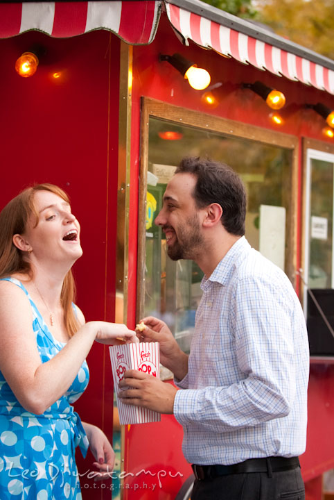 Engaged girl and her fiancé laughing together. Washington DC National Zoo pre-wedding engagement session by Leo Dj Photography