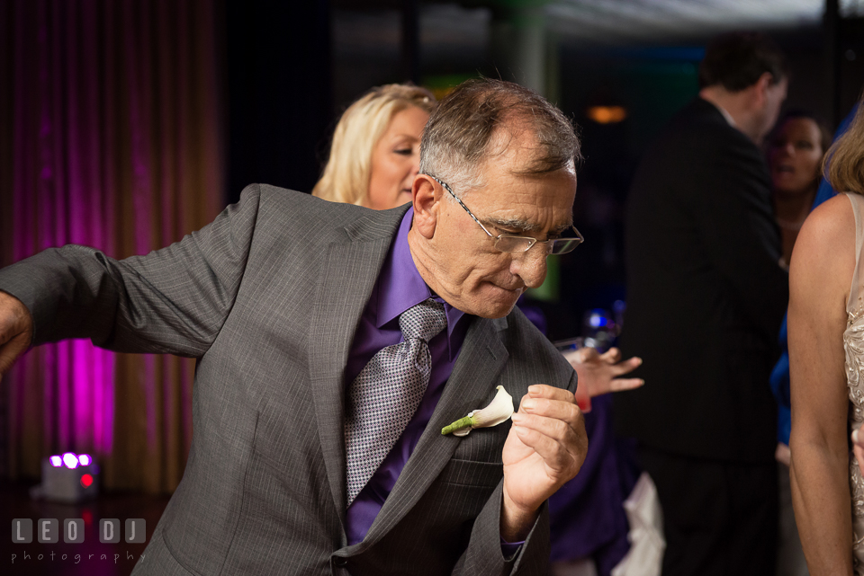 Groom's Father enjoying his dance. Harbour View Events Woodbridge Virginia wedding ceremony and reception photo, by wedding photographers of Leo Dj Photography. http://leodjphoto.com