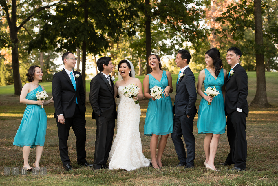 Hidden Creek Country Club Bride, Groom and the wedding party photo by Leo Dj Photography
