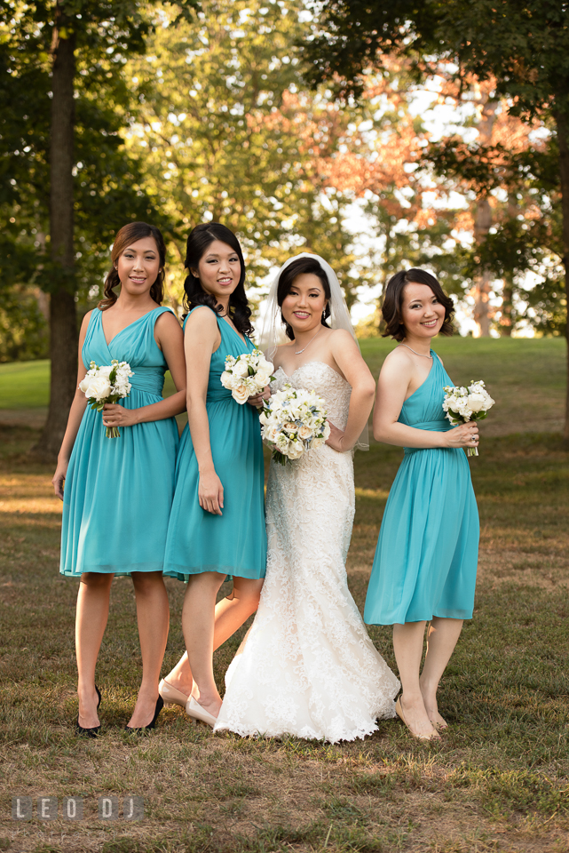 Reston Virginia Wedding Bride with Maid of Honor and Bridesmaids photo by Leo Dj Photography