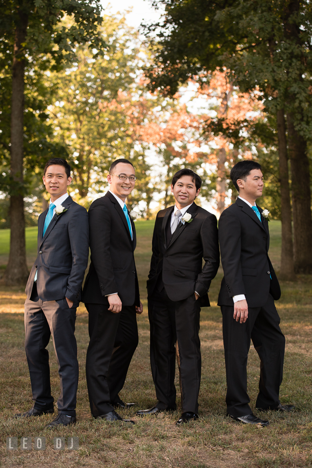 Reston Virginia Wedding Groom with Best Man and Groomsmen photo by Leo Dj Photography