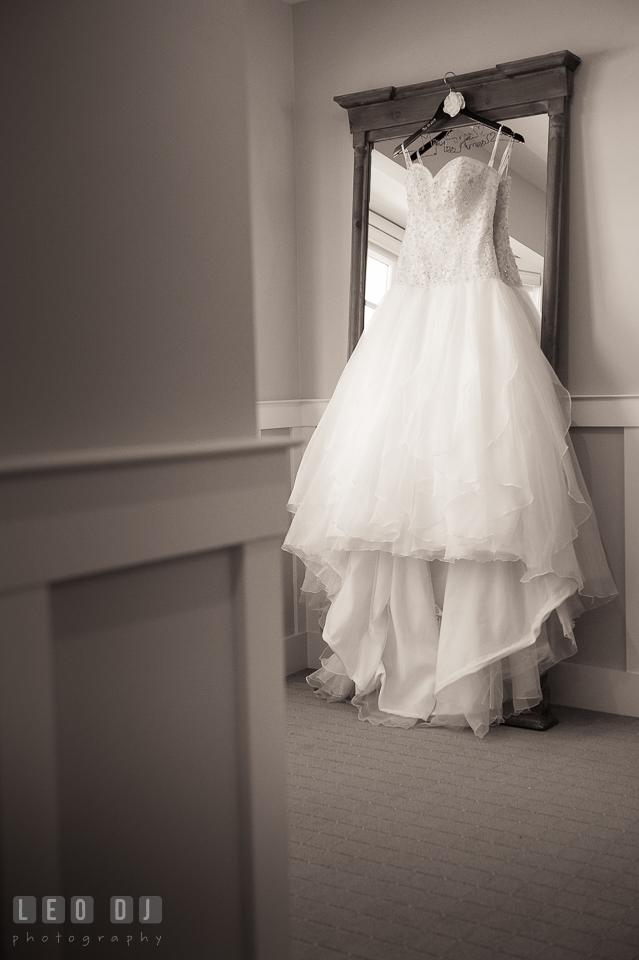 Wedding gown by Justin Alexander, from Amanda Ritchey Bridal. Kent Island Maryland Chesapeake Bay Beach Club wedding photo, by wedding photographers of Leo Dj Photography. http://leodjphoto.com